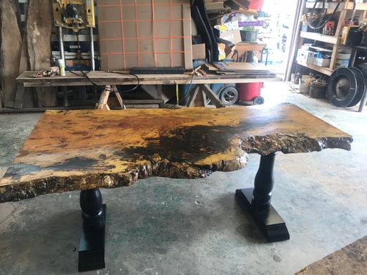 Clustered Burl Maple Desk