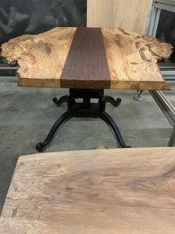 Oak Burl and Walnut Coffee Table