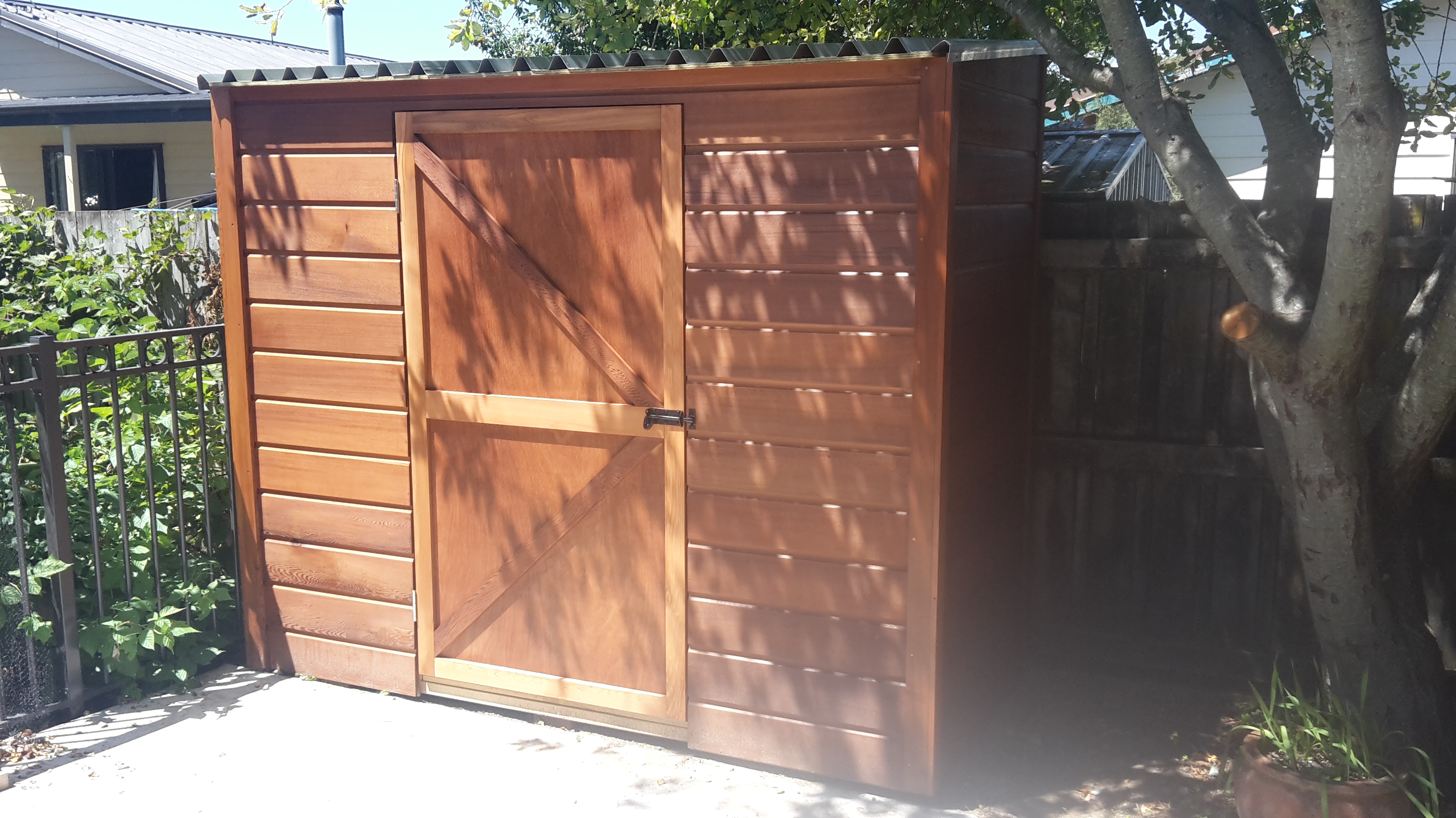 Cedar shed & ply batten door