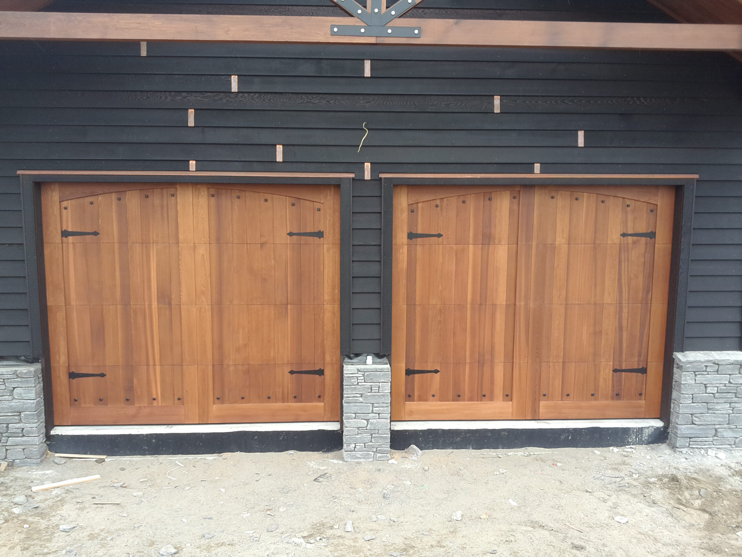 Custom designed cedar doors