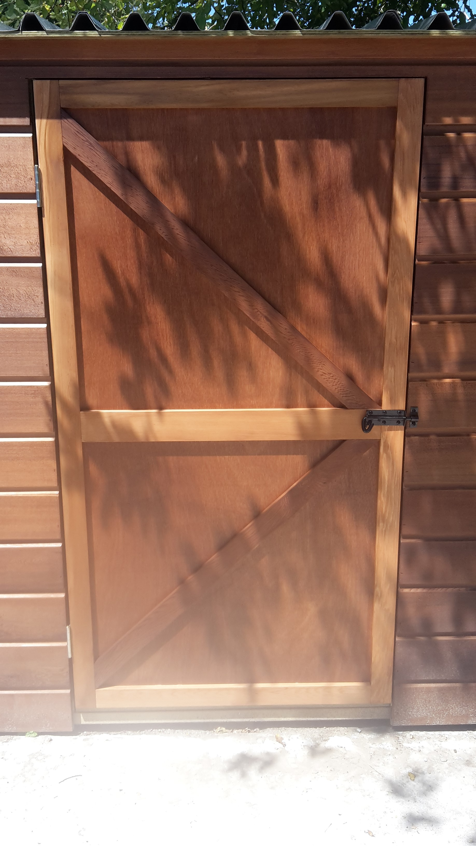 Ply batten door for cedar shed