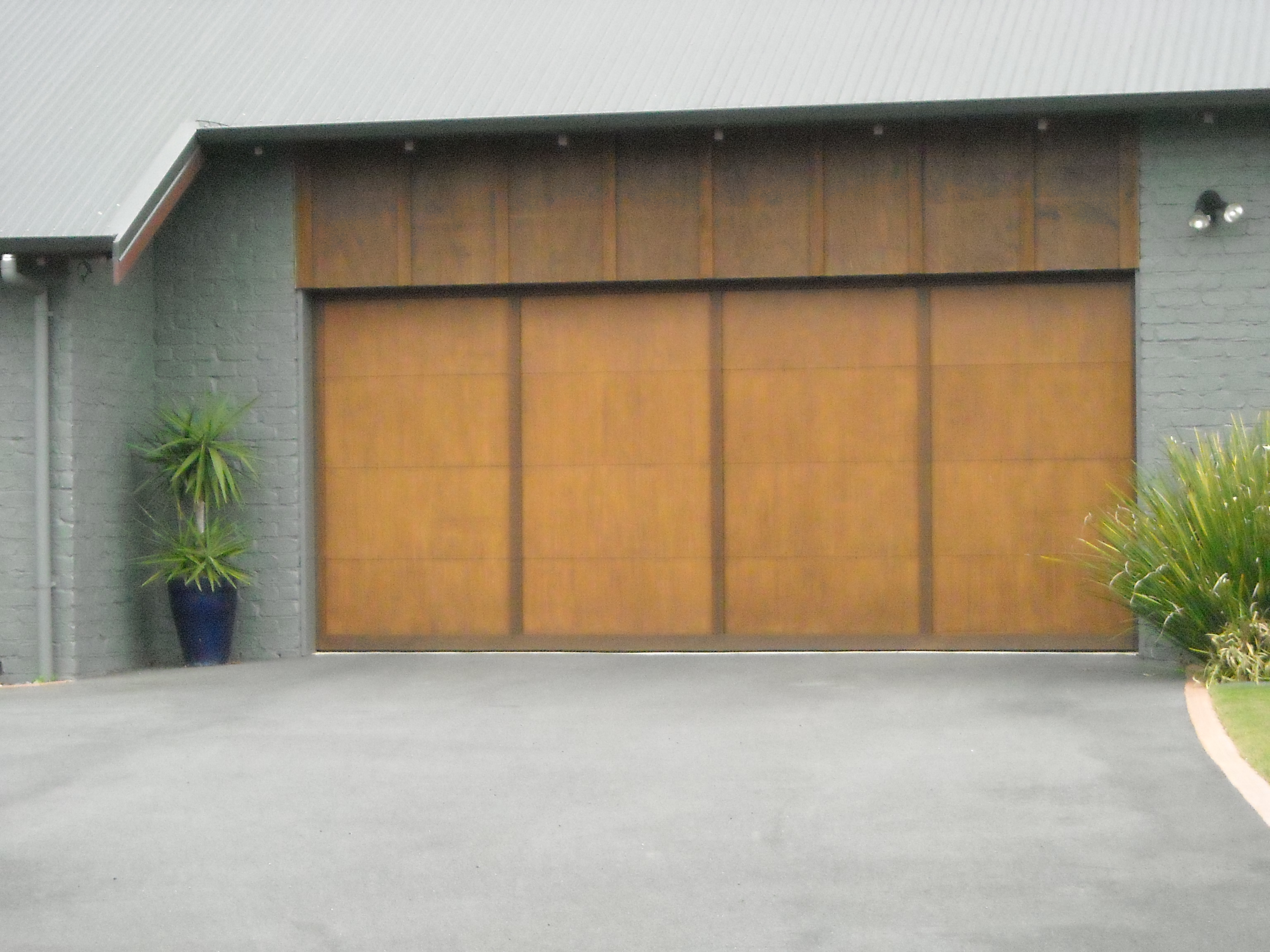 sectional ply batten garage door
