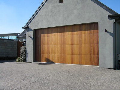 Vertical cedar sectional door
