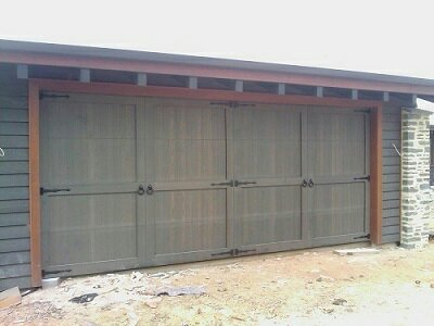 custom bi fold garage door