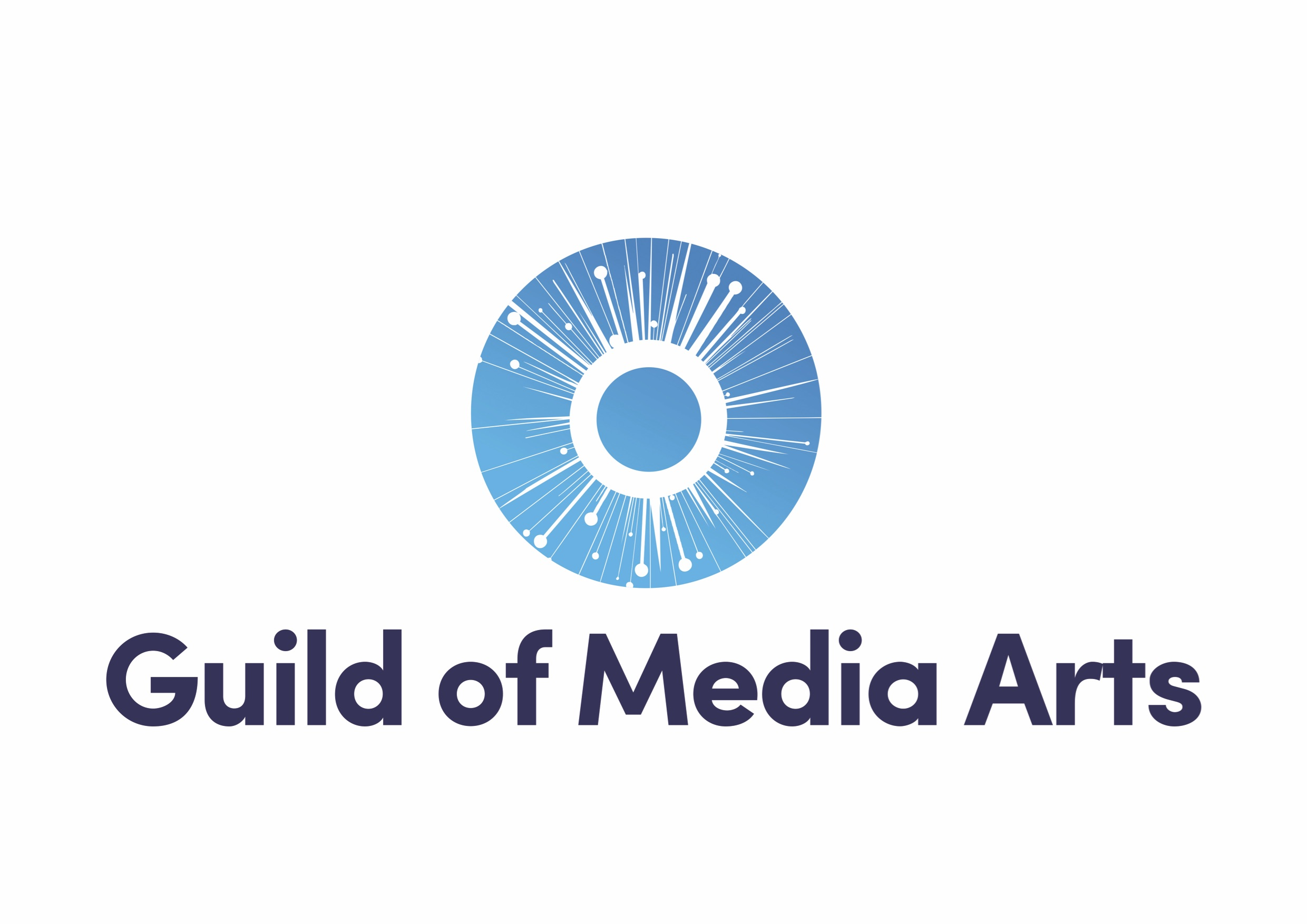 Logo for the Guild of Media Arts and it'