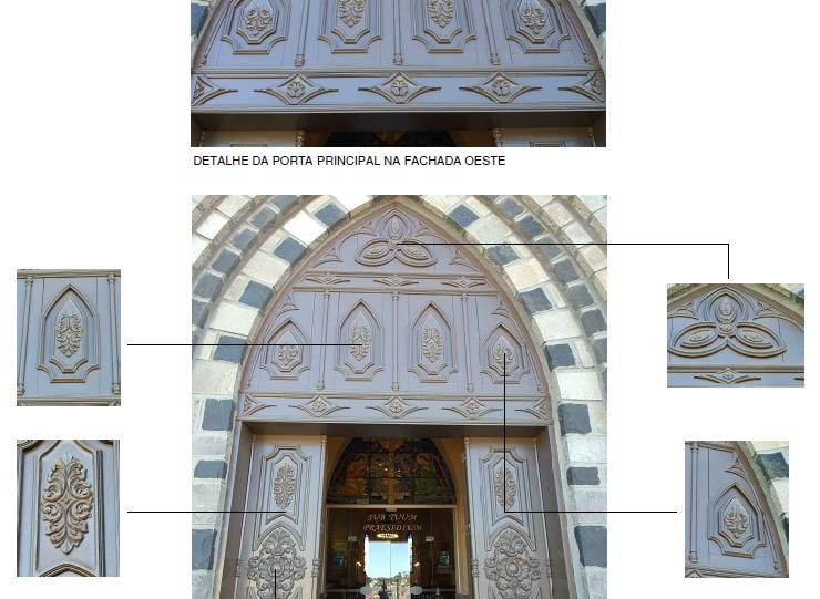 Detalhes da porta principal