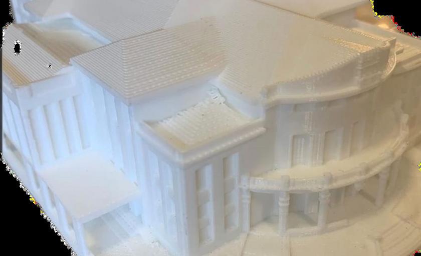 Teatro Carlos Gomes impresso em 3D
