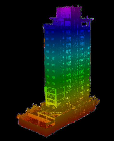 Edifício com mapa de elevação