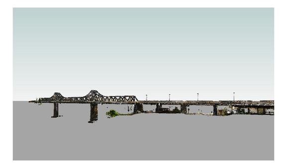Nuvem de pontos da Ponte de ferro