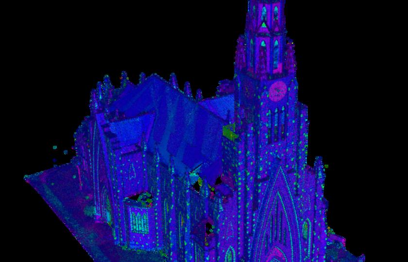 3D da nuvem de pontos