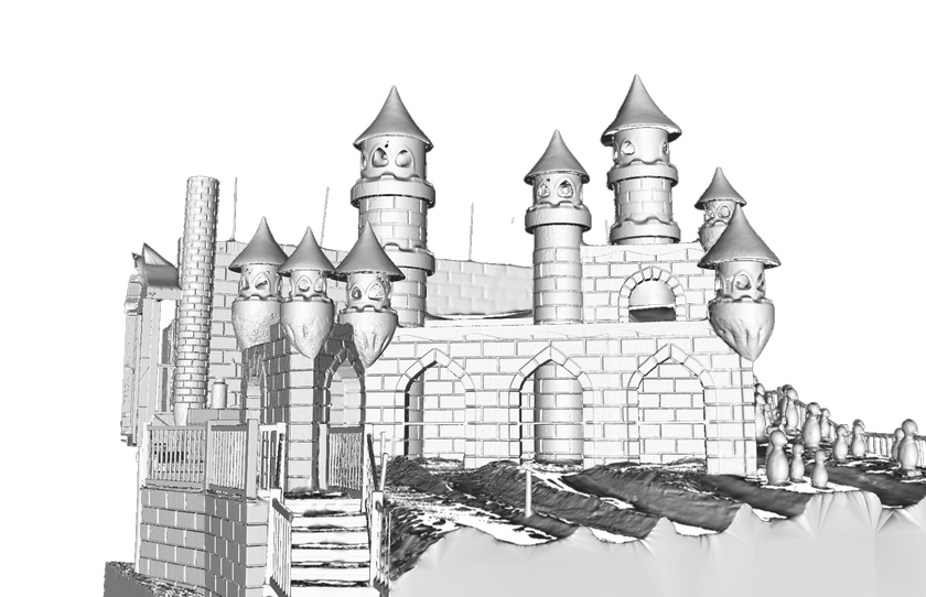 Malha 3D a partir da nuvem de pontos