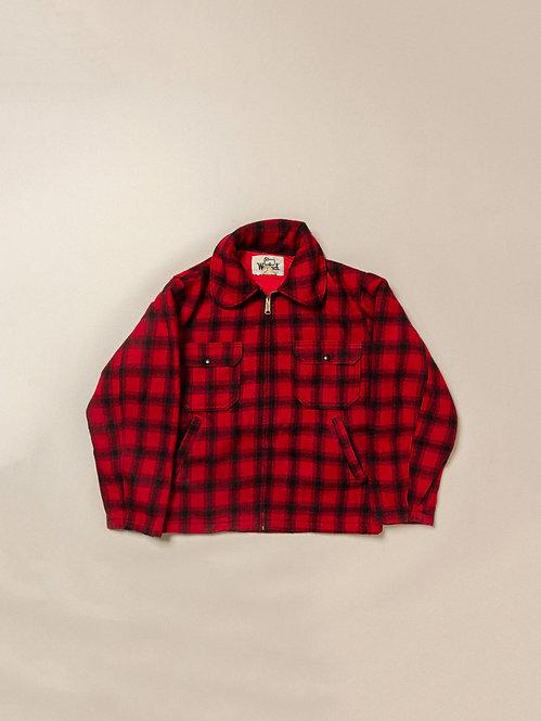 Vtg Woolrich Plaid Jacket (38)