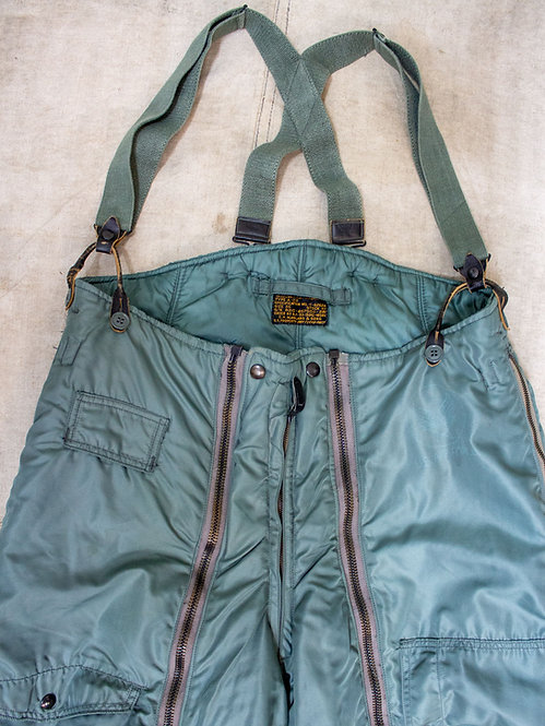 1950s USAAF A-11D Nylon Flight Pants w/ Suspenders