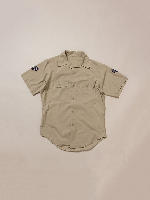 Vtg US Army Camp Collar Shirt (M)