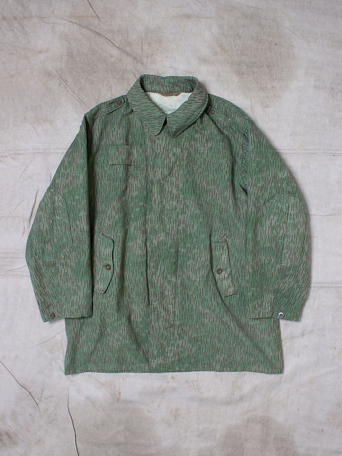 Vtg Czech Army Camo Overcoat (M)