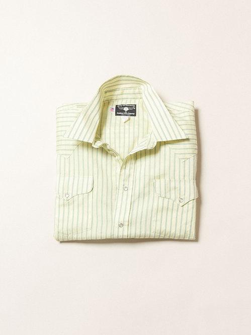 Vtg Yellow Ruddock Western Shirt - Made in USA (XL)