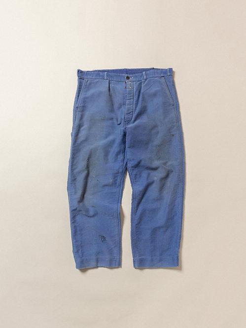 Vtg French Moleskin Workwear Trousers (36x27)