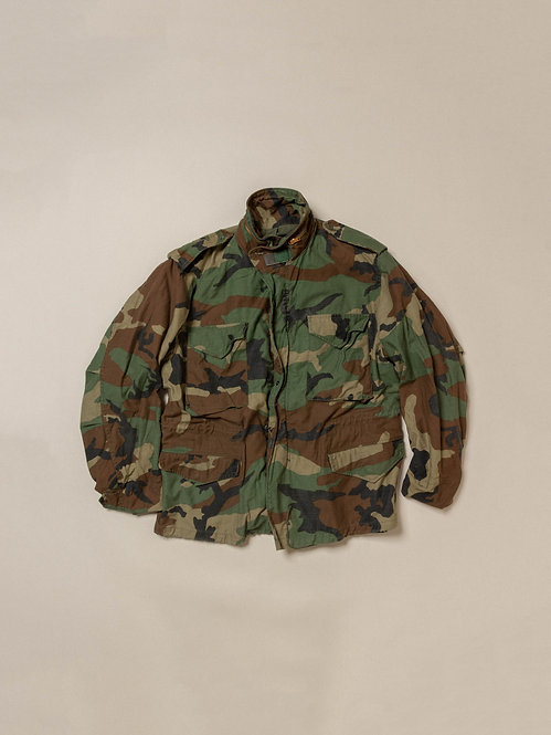 Vtg US Army M65 Camo Field Jacket (L-short)