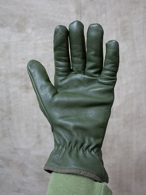 Vintage French Army Leather Gloves