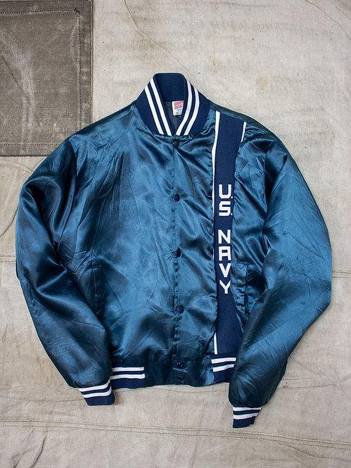 1990s Vtg US Navy Nylon Sports Jacket