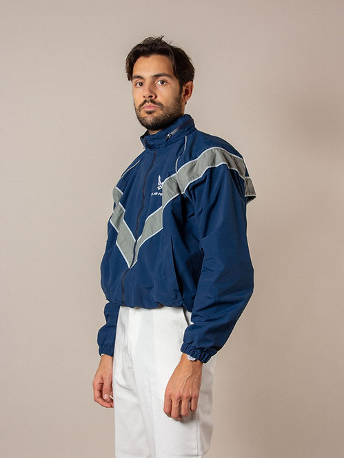 Vtg USAF Physical Training Reflective Windbreaker Jacket