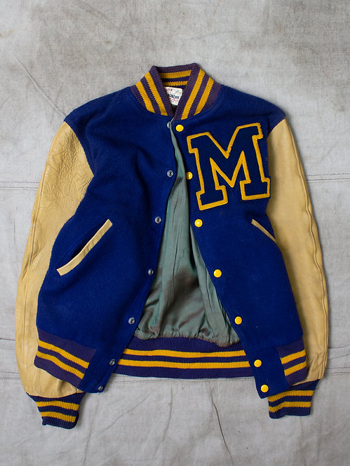 Vintage US Made Michigan Letterman Jacket (S)