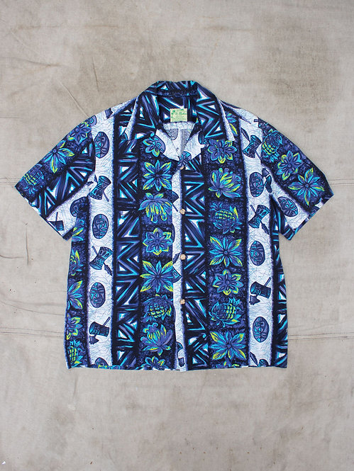 Vtg 1960s Ui-Maikai  Cotton Hawaii Shirt (M)