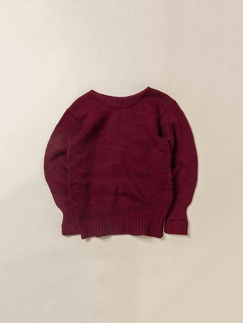 Vtg Burgundy 1930s College Sweater (S/M)