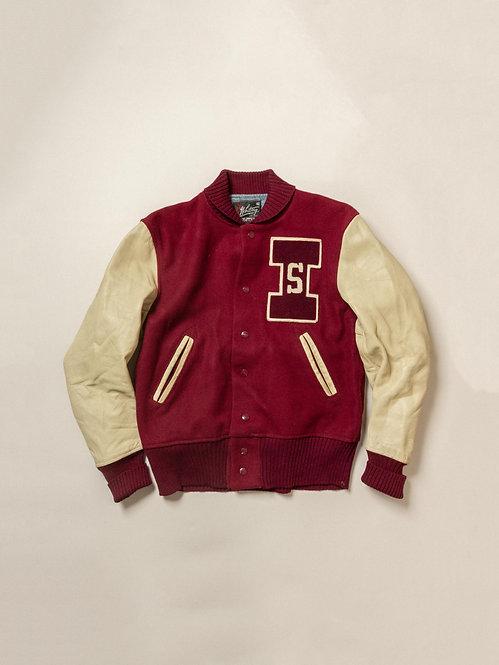 Vtg Whiting Burgundy Varsity Jacket (S)