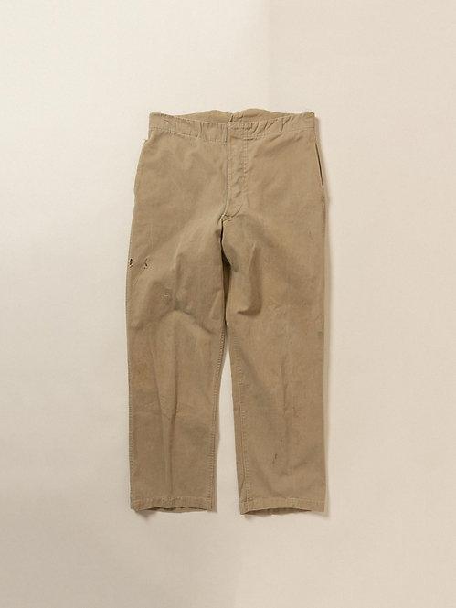 "Vtg British Army Khaki Trousers (34"")"