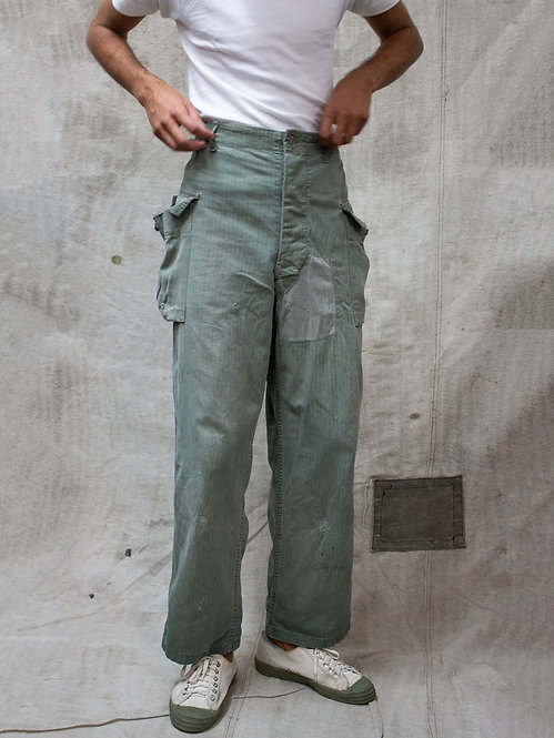 Vtg WWII US Army P43 HBT Trousers (31x31)