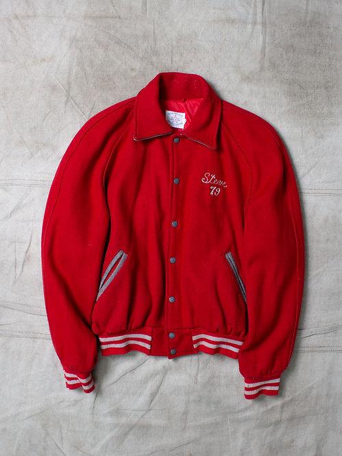 Vtg Vineland 1979 Varsity Wool Jacket (M)