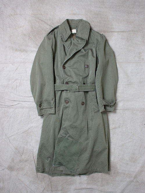 Vtg US Army 1950s Overcoat (S-Long)