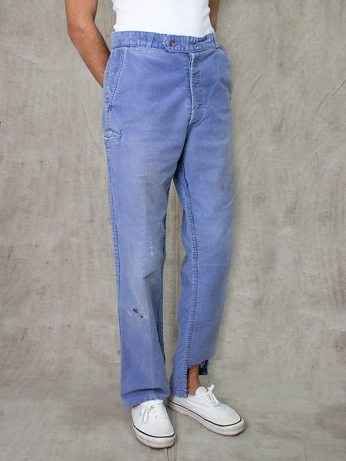 Vintage French Moleskin Trousers (32x32)
