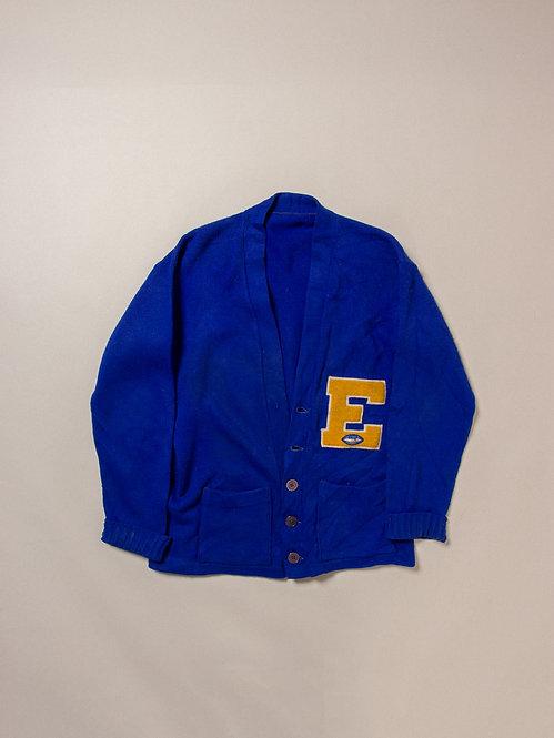 Vintage Blue Letterman Sweater (M)