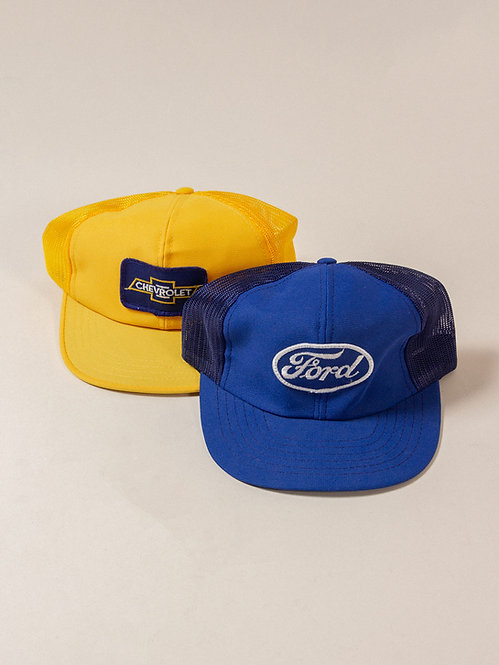 Ford & Chevrolet Trucker Caps. New Old Stock
