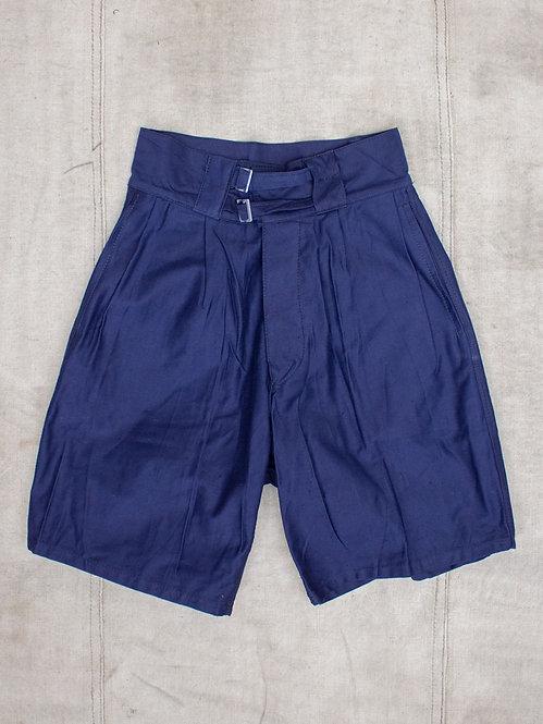 Vintage 1950s 1960s italian navy military chino shorts in navy blue