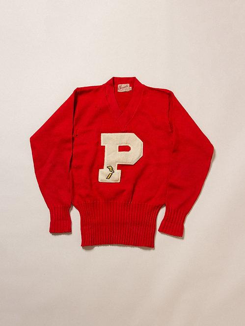 Vintage Letterman Sweater (M)