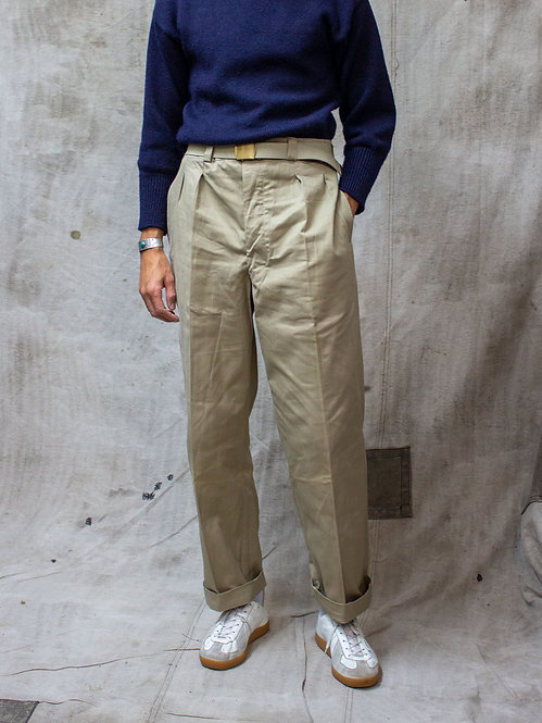 french army deadstock foreign legion etrangere khaki trousers / chinos vintage clothing 50s algeria war