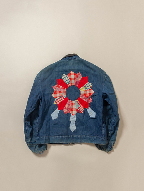 Vtg Sears Embroidered Workwear Jacket - Made in USA (L)