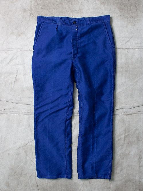 Vtg French Moleskin Workwear Trousers (36x29)