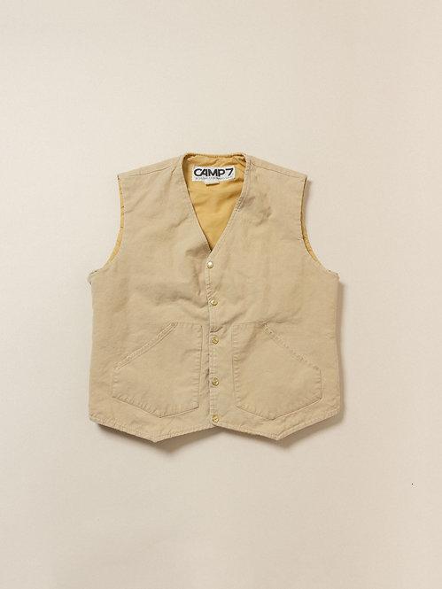 Vtg Cotton/Linen Shell Vest (M)