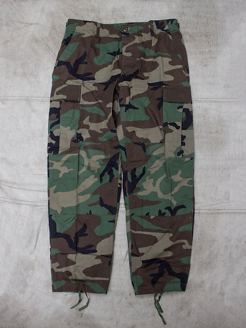 Vtg US Army Woodland Pattern Field Trousers
