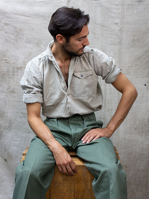 Late 30's/Early 40s Swedish Army Work Shirt