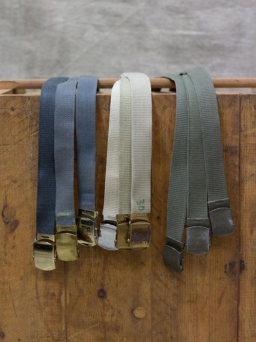Vtg French Army Canvas Belts