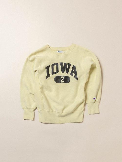 Vtg Champion Reverse Weave Iowa Sweatshirt Womens (S)