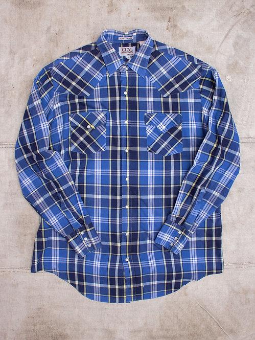 Vtg Western Light Weight Plaid Shirt