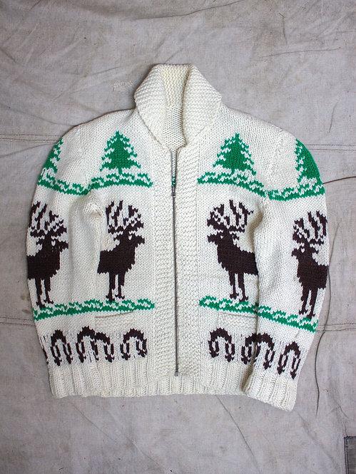 Vtg Cowichan Wool Cardigan (S)