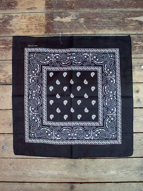 Black Bandana 100% cotton