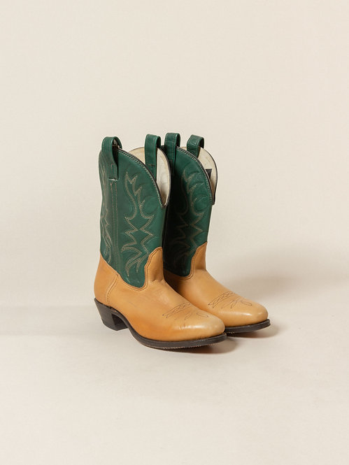 Vtg Double H Western Boots - Made in USA (US 9)